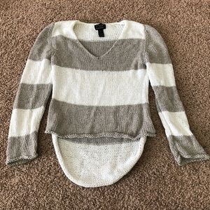 Pure Hand Knit Striped Sweater